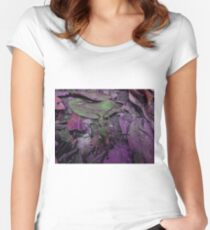 Longhorn Beetle In Pink Women's Fitted Scoop T-Shirt