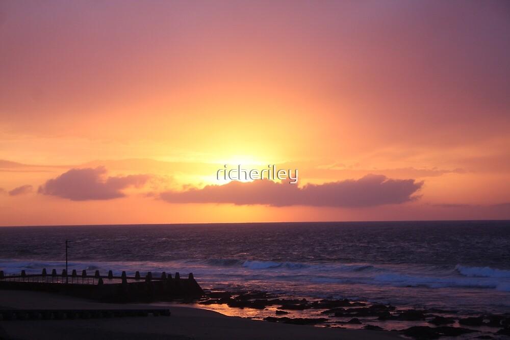 Sunrise over Brighton beach, Durban by richeriley