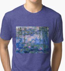 Claude Monet - Water Lilies 1919 Tri-blend T-Shirt
