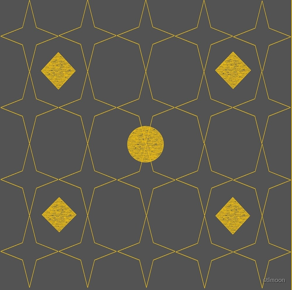 Grey and gold pattern by stlmoon