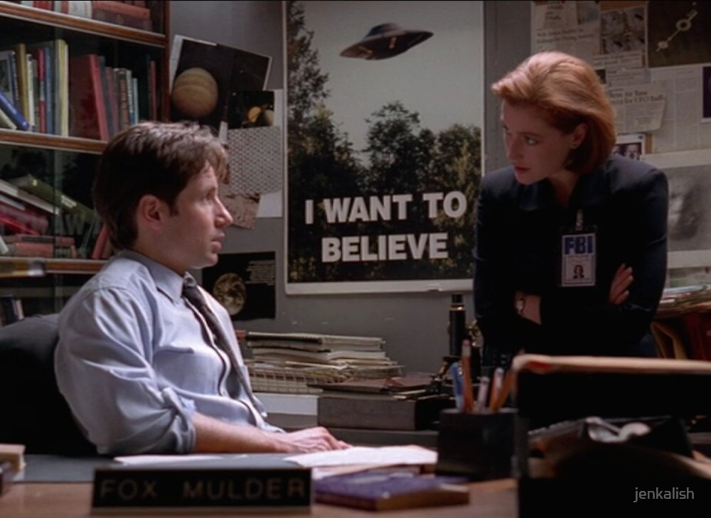 Mulder and Scully by jenkalish
