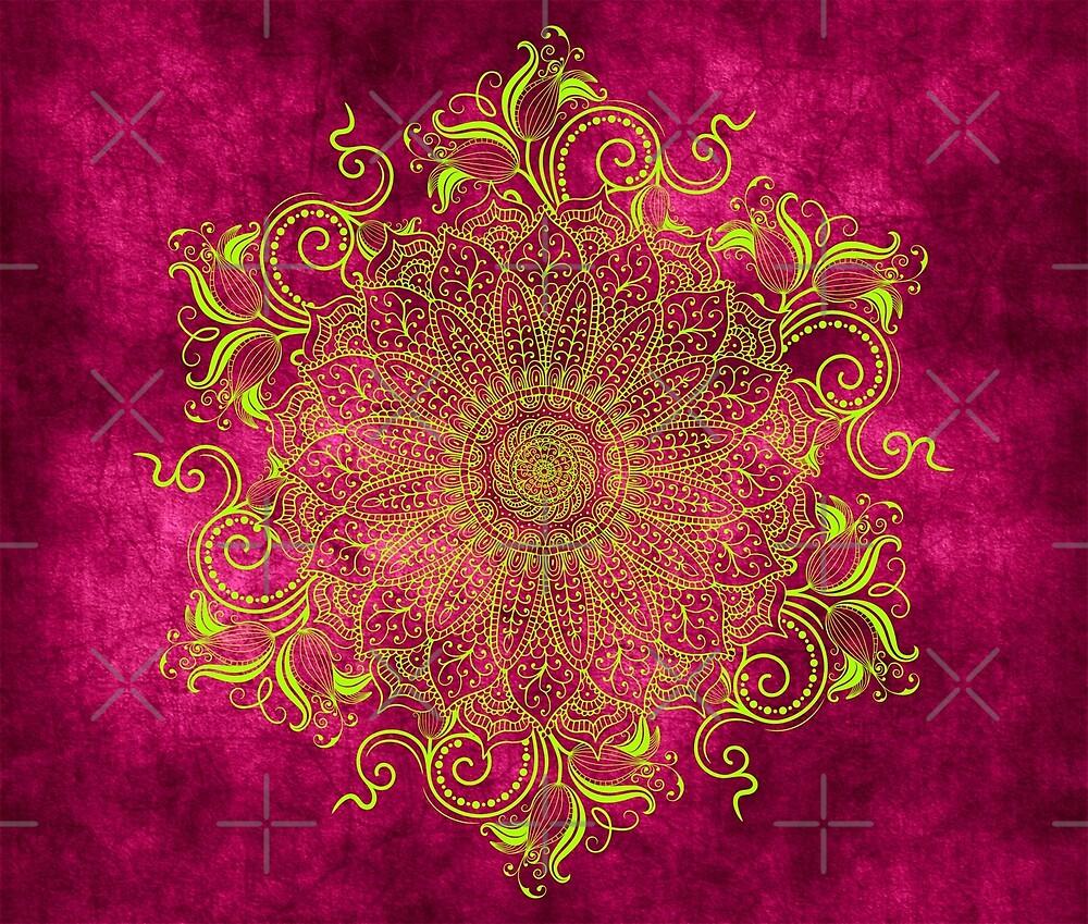 Mandala - Pink Lemon by aleibanez