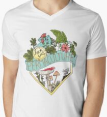 Heck Yes Permaculture Men's V-Neck T-Shirt