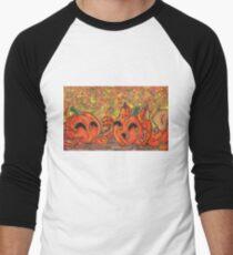 Pumpkin Buddies Men's Baseball ¾ T-Shirt