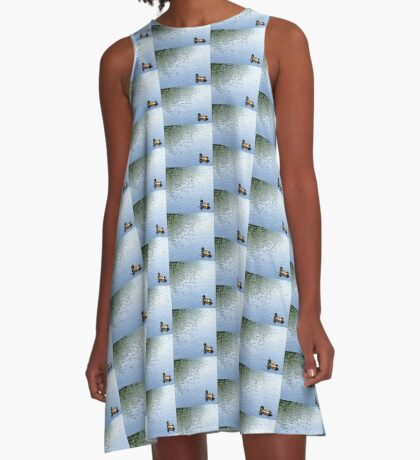 With Wind Ripples A-Line Dress