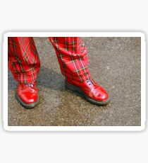 Red Shoes, Plaid Trews Sticker
