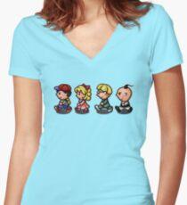 Earthbound Guys Women's Fitted V-Neck T-Shirt