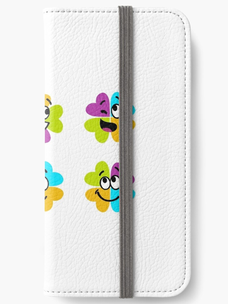 Happy collection of colorful four leaf clover for brighter Day : Original gift edition by Bee and Glow Illustrations Shop