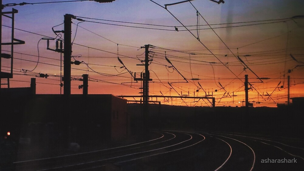 Newcastle station at sunset by asharashark