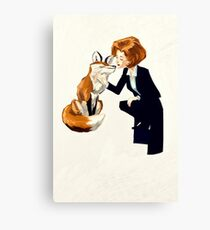 trust of a fox - x files Canvas Print