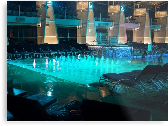 Cruise Ship Pool by Michael McGimpsey