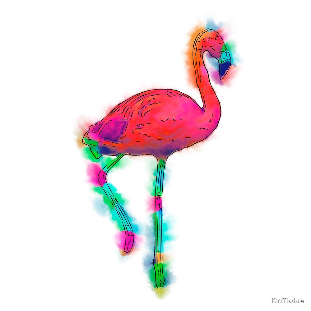 Abstract Flamingo Step by KirtTisdale
