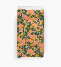 Lemon and Leaf Duvet Cover