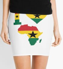 I love Ghana flag Africa map t-shirt Mini Skirt