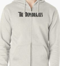 Trump and The Deplorables Zipped Hoodie