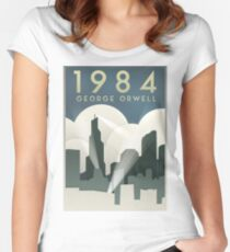 George Orwell - 1984, Art Deco Poster Women's Fitted Scoop T-Shirt