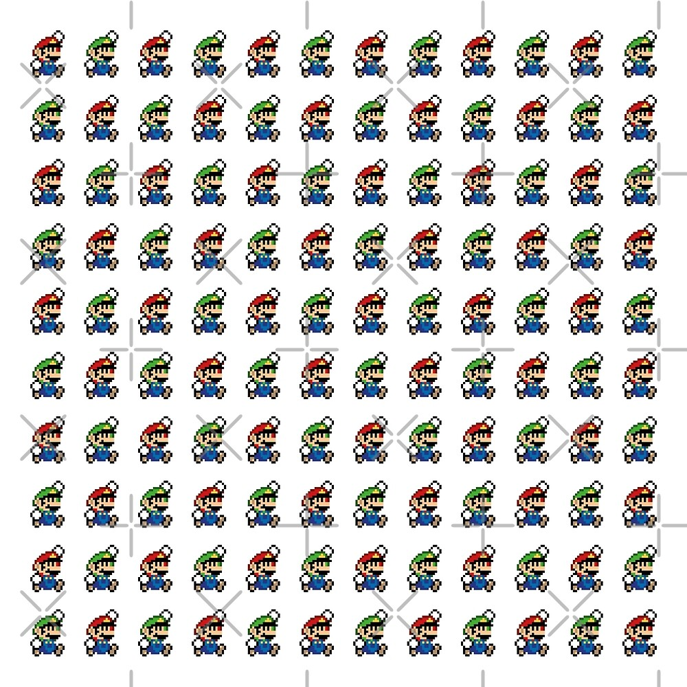 Mario & Luigi Pattern - Pixel Fan Art by two34