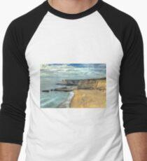Panther Beach from Cliffs Men's Baseball ¾ T-Shirt