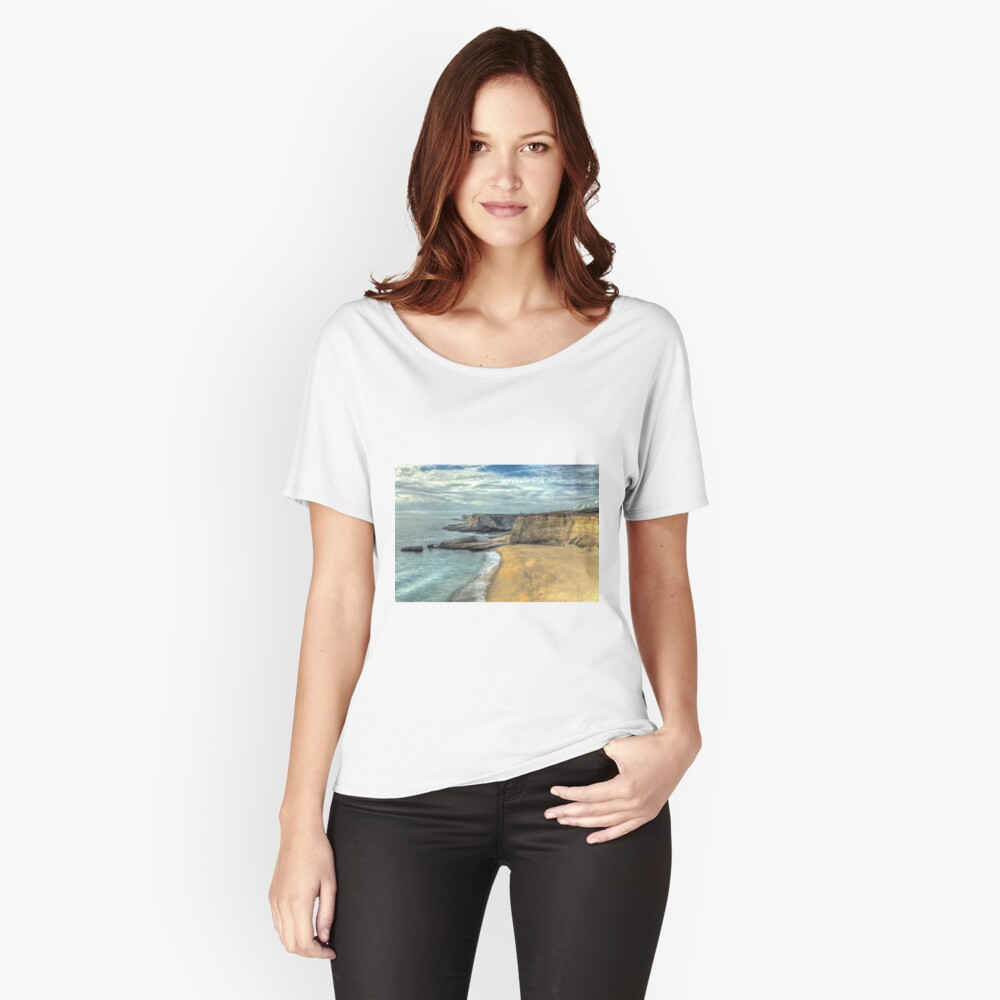 Panther Beach from Cliffs Women's Relaxed Fit T-Shirt Front