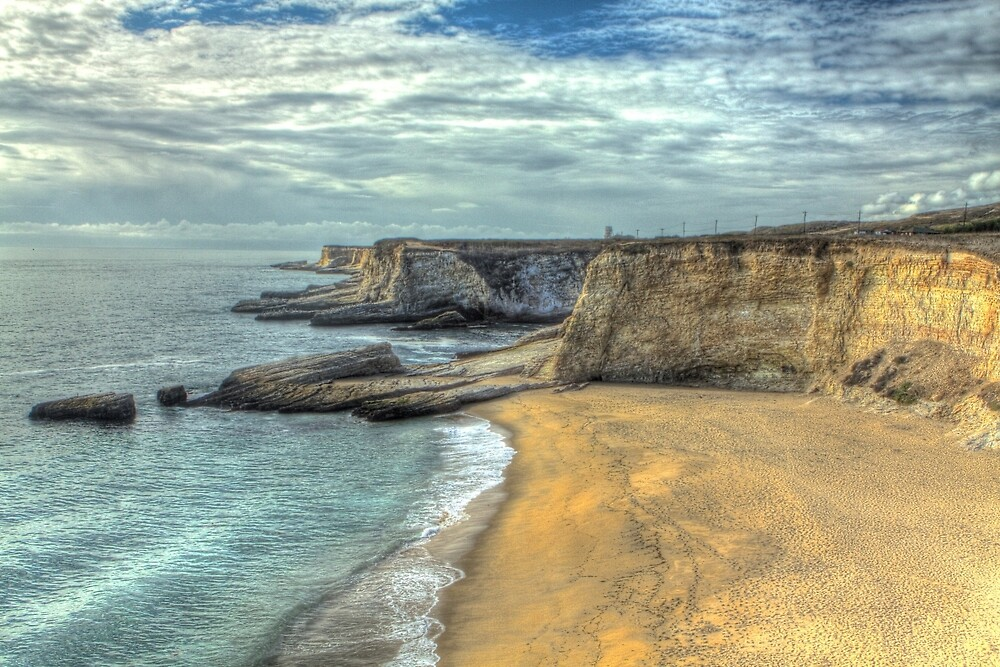 Panther Beach from Cliffs by ScHPhotography Digital Paintings and Design
