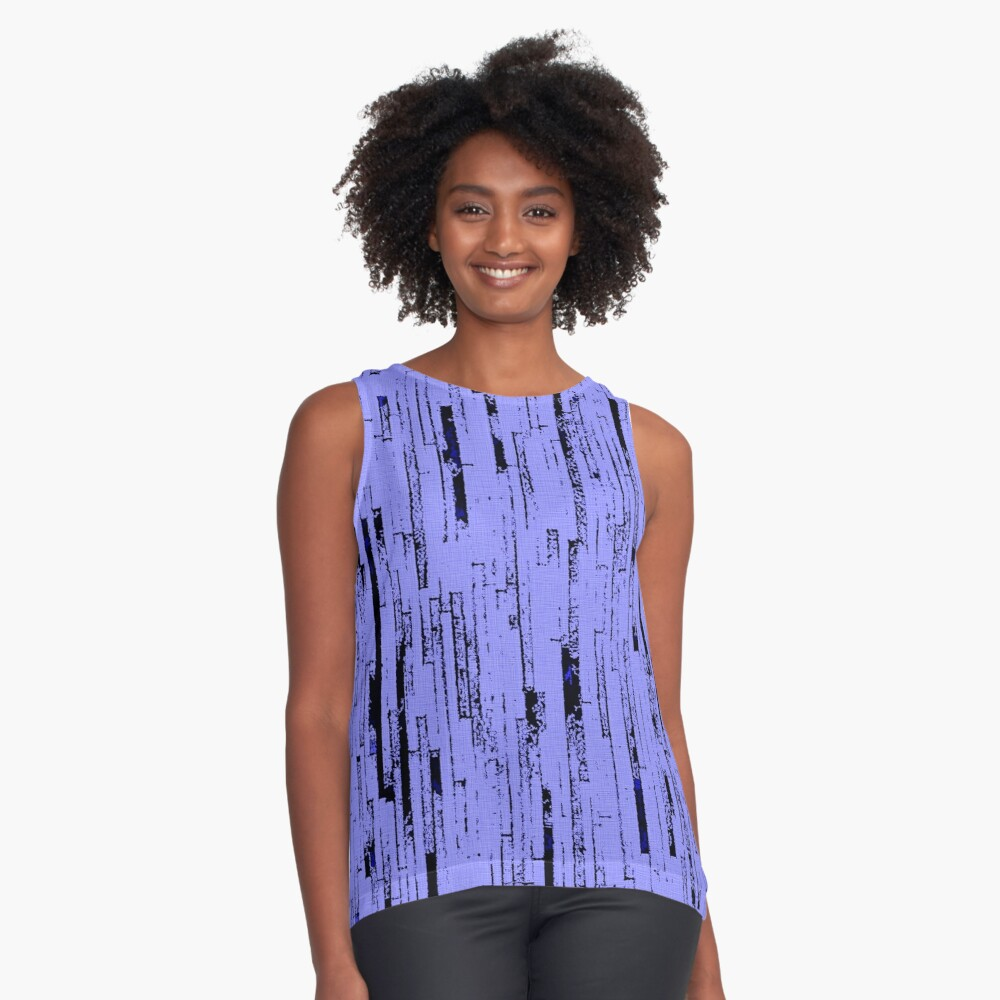 Line Art - The Bricks, black and purple Contrast Tank Front