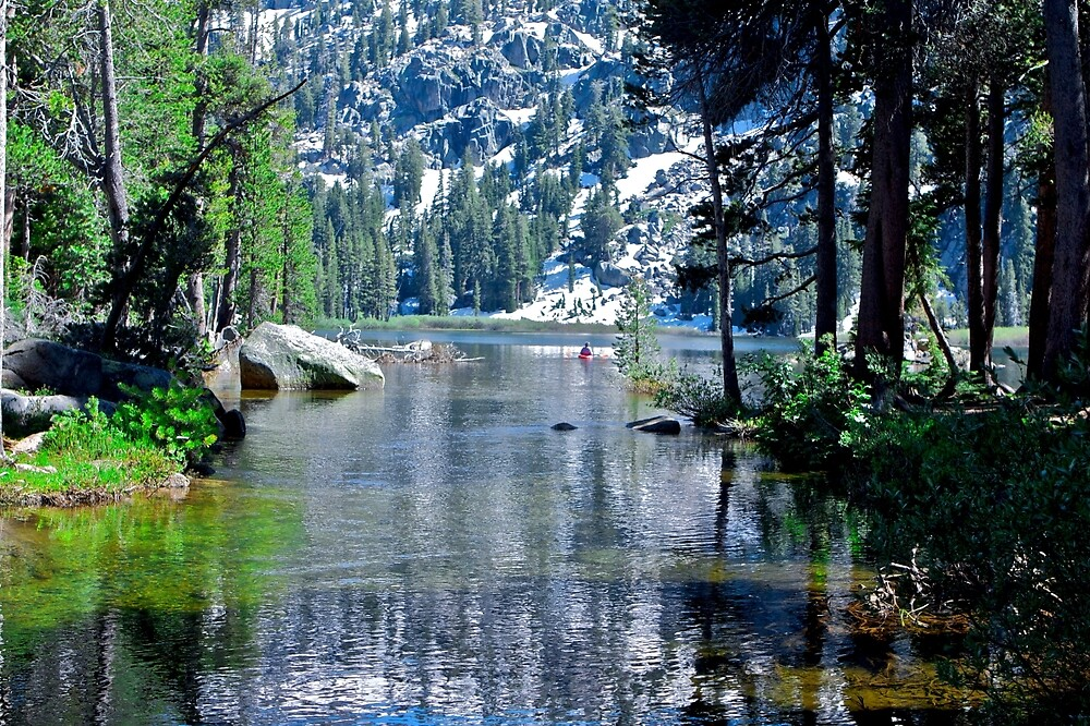 Woods Lake by ScHPhotography Digital Paintings and Design