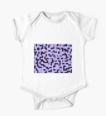 Line Art - The Bricks, tetris style, purple and black One Piece - Short Sleeve