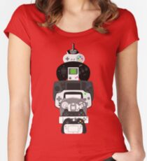 video games controllers Women's Fitted Scoop T-Shirt