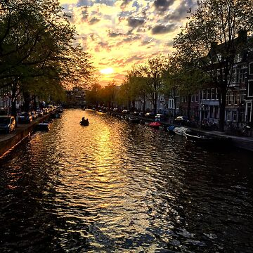 Amsterdam sunset by onebg