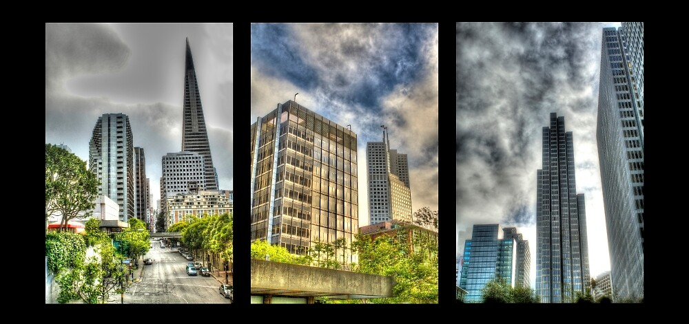 San Francisco Embarcadero Panel by ScHPhotography Digital Paintings and Design
