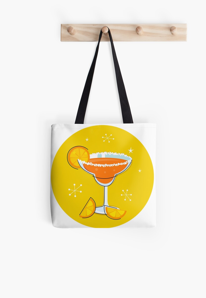 Orange retro drink with fruit. Vector cartoon Illustration by Bee and Glow Illustrations Shop