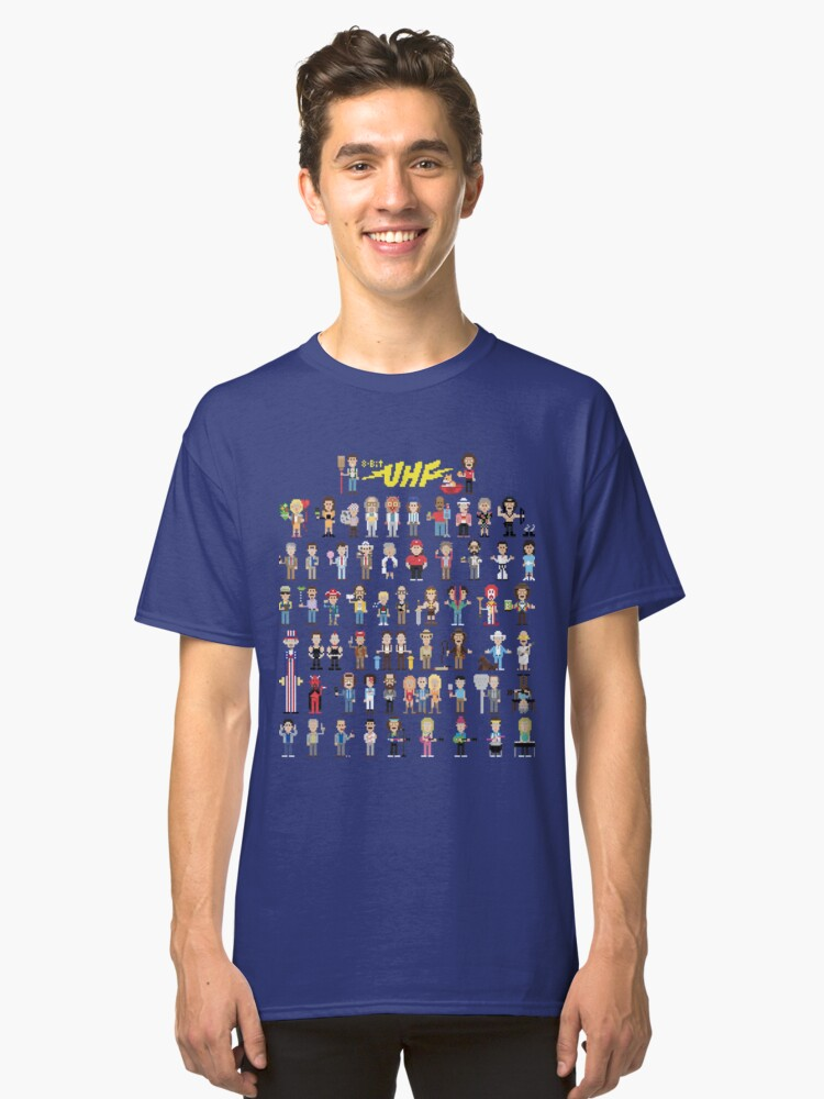 8-Bit UHF Classic T-Shirt Front