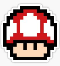 Red Mushroom - Pixel Fan Art Sticker