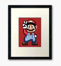 Mario 16 Bit Framed Print