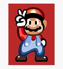 Mario 16 Bit Photographic Print