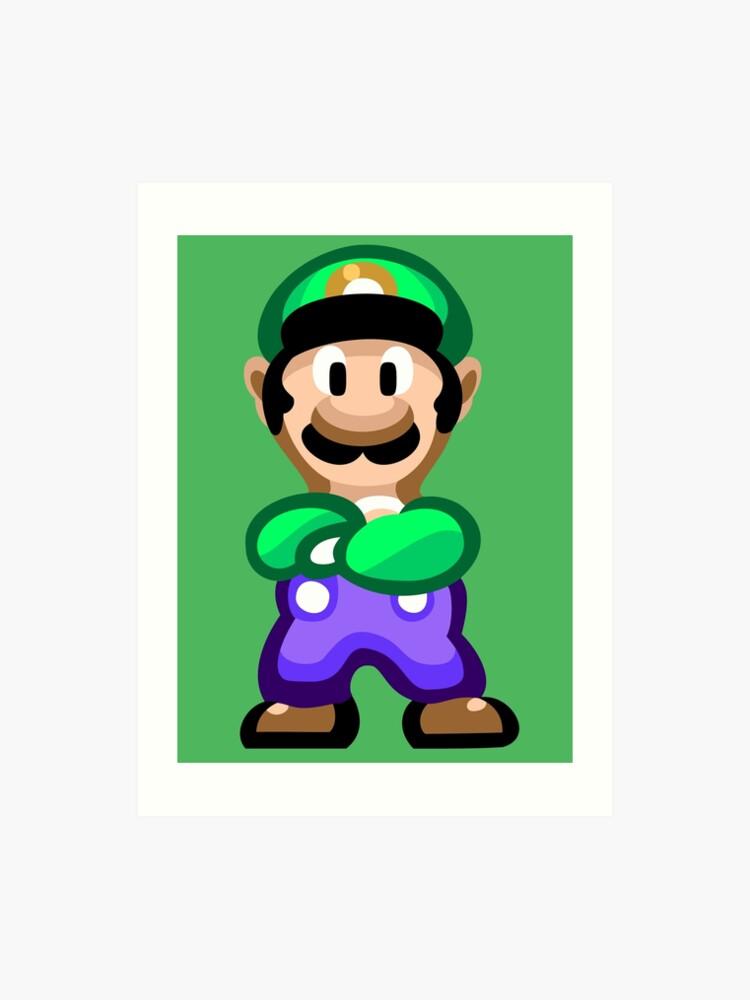 Luigi 16 Bit | Art Print