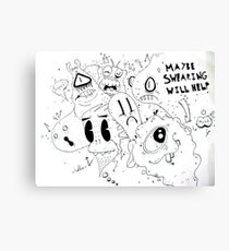 Swearing Monsters Canvas Print