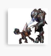 Halo Grunt + Elite Canvas Print