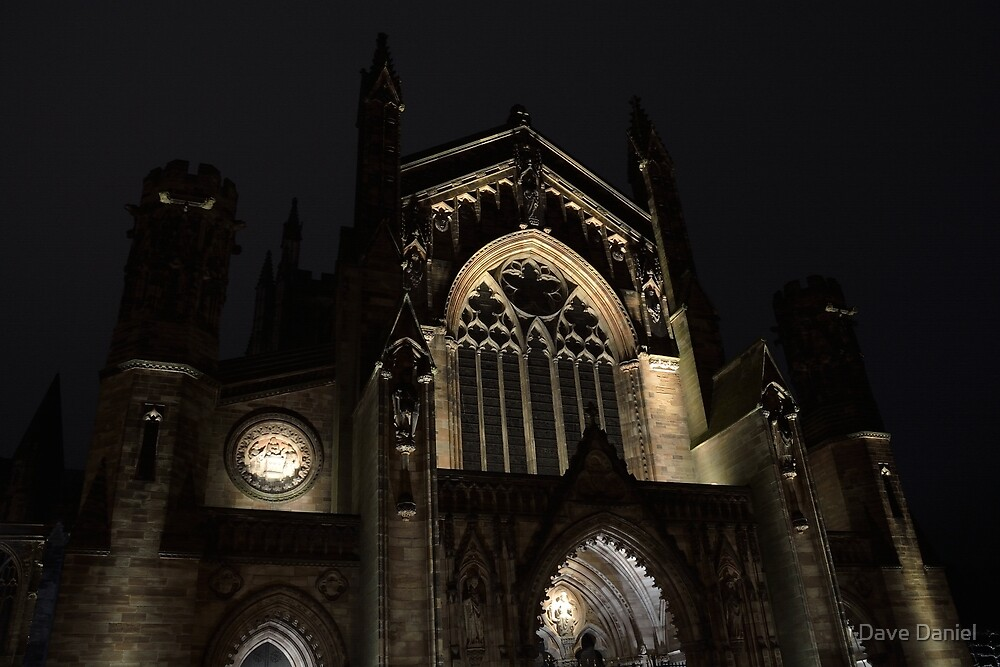 Hereford Cathedral at Night by Dave Daniel