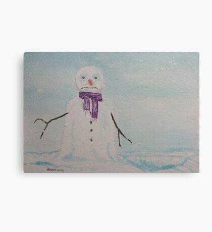 Lonely snowman Canvas Print