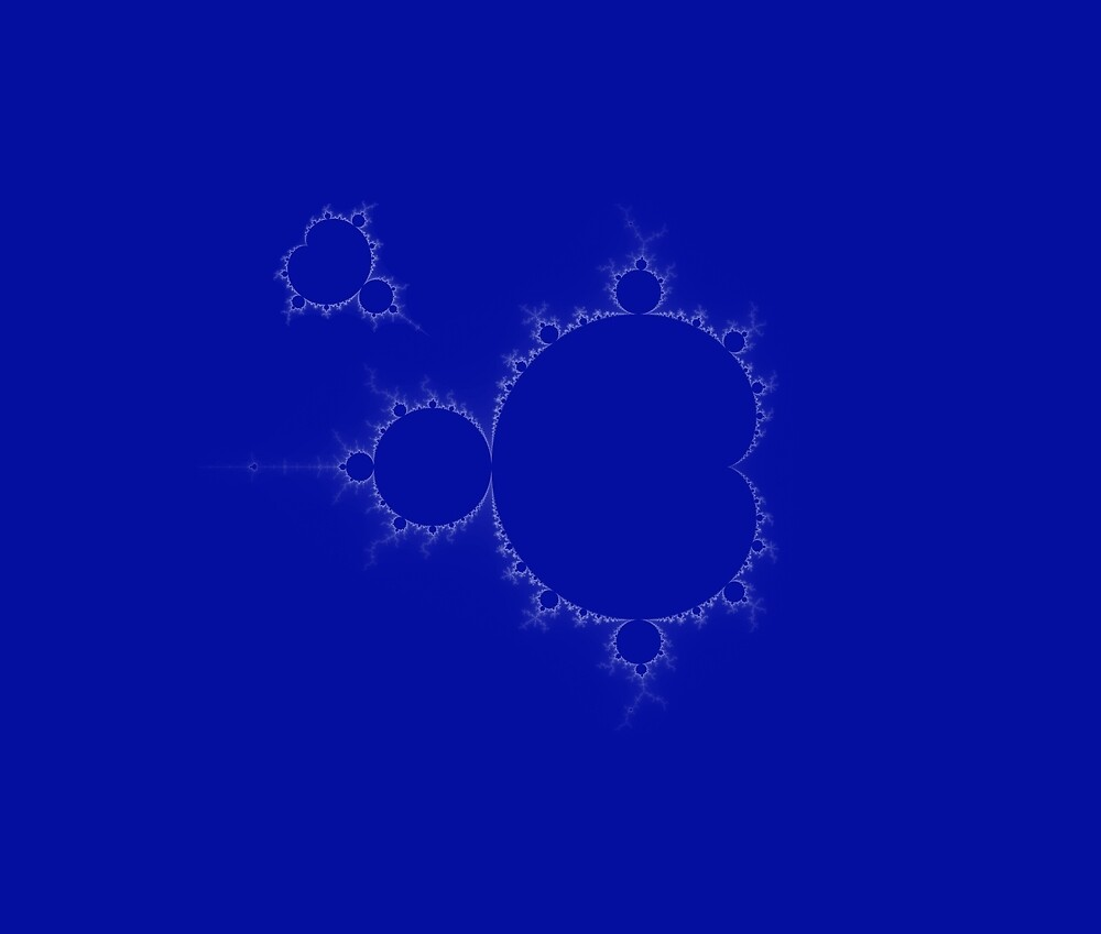 Mandelbrot Set Fractal Simple I blue by mandelbrotset