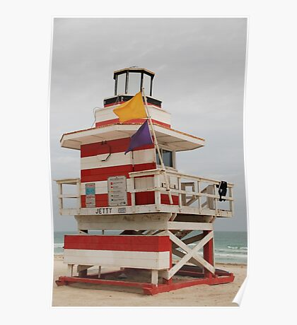 lifeguard tower Poster