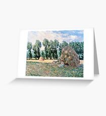Claude Monet - Haystacks (1885)  Greeting Card