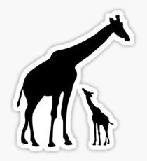 Giraffe Love Sticker