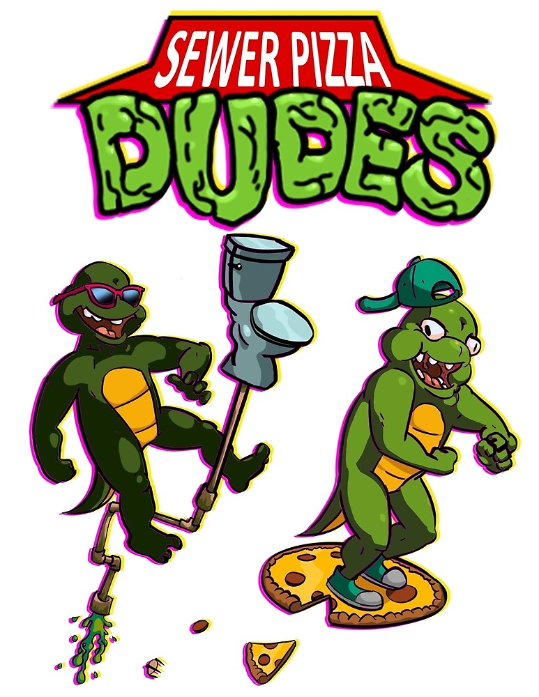Sewer Pizza Dudes by ActualLiam