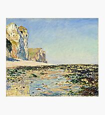 Claude Monet - Seashore and Cliffs of Pourville in the Morning (1882)  Photographic Print