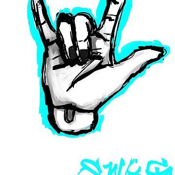 ResinSwag BJD Hand Blue by ResinSwag