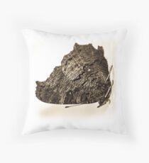 butterfly b&w Throw Pillow