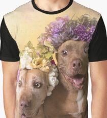 Flower Power, Indie und Choco Grafik T-Shirt