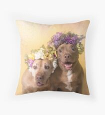 Flower Power, Indie and Choco Throw Pillow